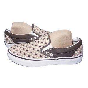 Vans Skate Slip On Shoes Sneakers Polka Dots 6